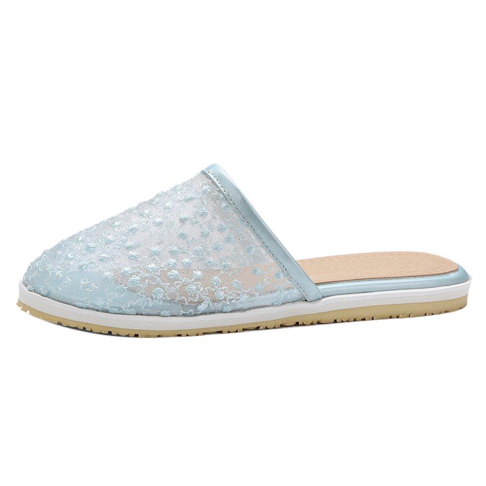 TAOFFEN Damen Clogs Sandalen Sommer Schuhe  35 EU|Blue