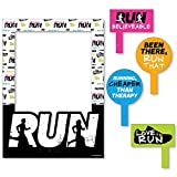 Set The Pace - Running - Track, Cross Country or Marathon Party Selfie Photo Booth Picture Frame & Props - Printed on Sturdy Material