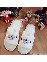 ZYGAJ Cute Bear Shoes Fish Mouth Slippers Plush Penguin Women At Home Bedroom Girls Shoe Slipper