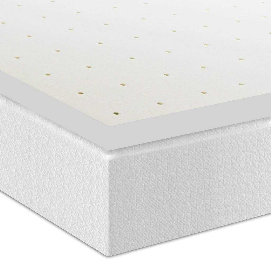 Best Price Mattress 2.5'' Ventilated Memory Foam Mattress Topper, Short Queen
