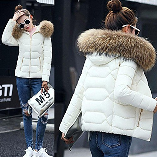 Casual Imbottito Slim Con Giacche Fit Bianco Ispessimento Cappuccio Babyney Coat Caldo Cotone Abbigliamento tXfxqvT