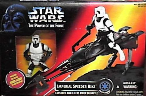 Star Wars Power of the Force Imperial Speeder Bike with Biker Scout Action Figure