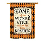 Cheap Breeze Decor H112059 Wicked Home Vertical House Flag, 28″ x 40″, Multicolor