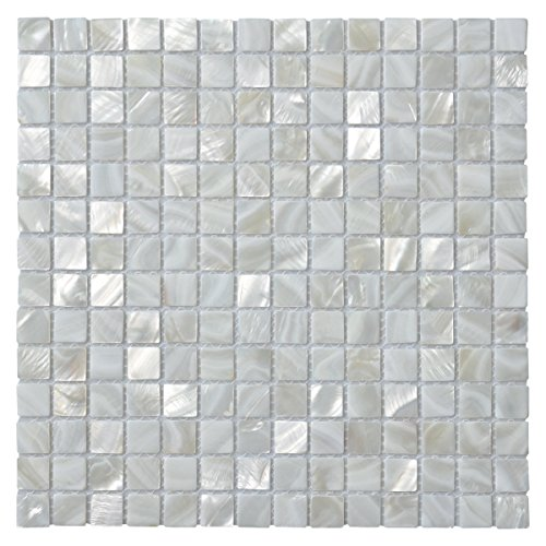 Art3d 10-Pack Oyster Mother of Pearl Square Shell Mosaic for Kitchen Backsplashes, Bathroom Walls, Spa Tile, Pool Tile by Art3d (Image #4)