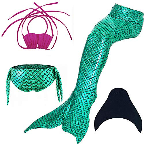 DOTOFIN Mermaid Tails, Swimsuit with Fin, Swimming Costume, Swimwear with Monofin, Girls Swimmable Mermaid Tail Swimsuit