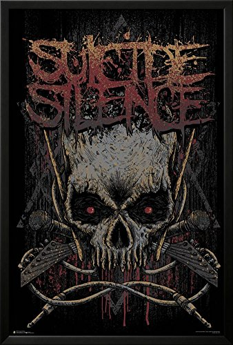 Suicide Silence- Gothic Jolly Rodger Lamina Framed Poster
