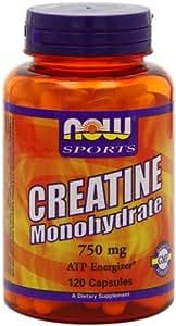 NOW Sports Creatine Monohydrate 750mg,120 Capsules