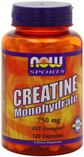 Now Foods Creatine Monohydrate  750mg Capsules, 120-Count