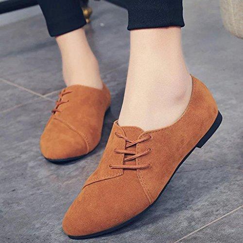Fulltime® Femmes lacets chaussures plates tête basse pour aider à fond plat chaussures occasionnelles Bowrn irLKS1FAXJ