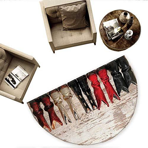 - Western Semicircle Doormat American Legend Cowgirl Leather Boots Rustic Wild West Theme Cultural Print Halfmoon doormats H 66.9