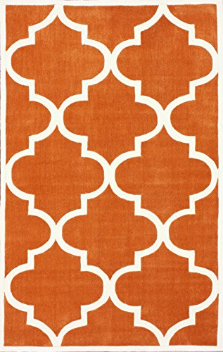 nuLOOM Cine Collection Contemporary Fez Hand Made Trellis Area Rug, 5-Feet by 8-Feet, Copper