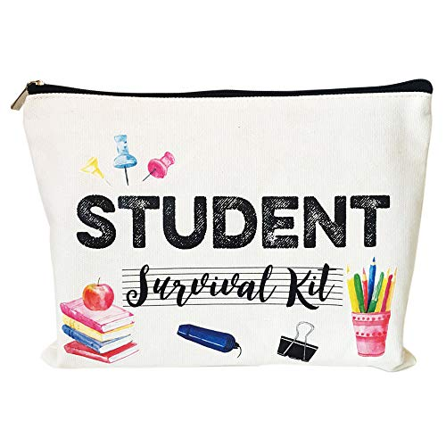 Kawaii School Supplies for Teacher for Classroom Girls College Student Gifts from Teacher Back to School Reusable Snack Bags Student Survival Kit Pencil Case Pouch for Christmas