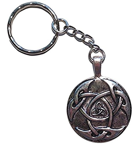Intricate Design Celtic Trinity Knot Pendant Key Chain (Brass Celtic Pendant)