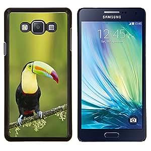 EJOOY---Cubierta de la caja de protección para la piel dura ** Samsung Galaxy A7 A7000 ** --Tucan especies ornitología pájaro resorte verde