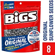 Bigs Sunflower Seeds Original Flavour - 8x140g Bags, 8 Count