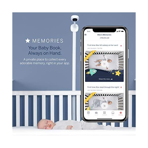 Nanit Plus - Smart Baby Monitor and Floor Stand: Camera with HD Video & Audio - Sleep Tracking - Night Vision… 4