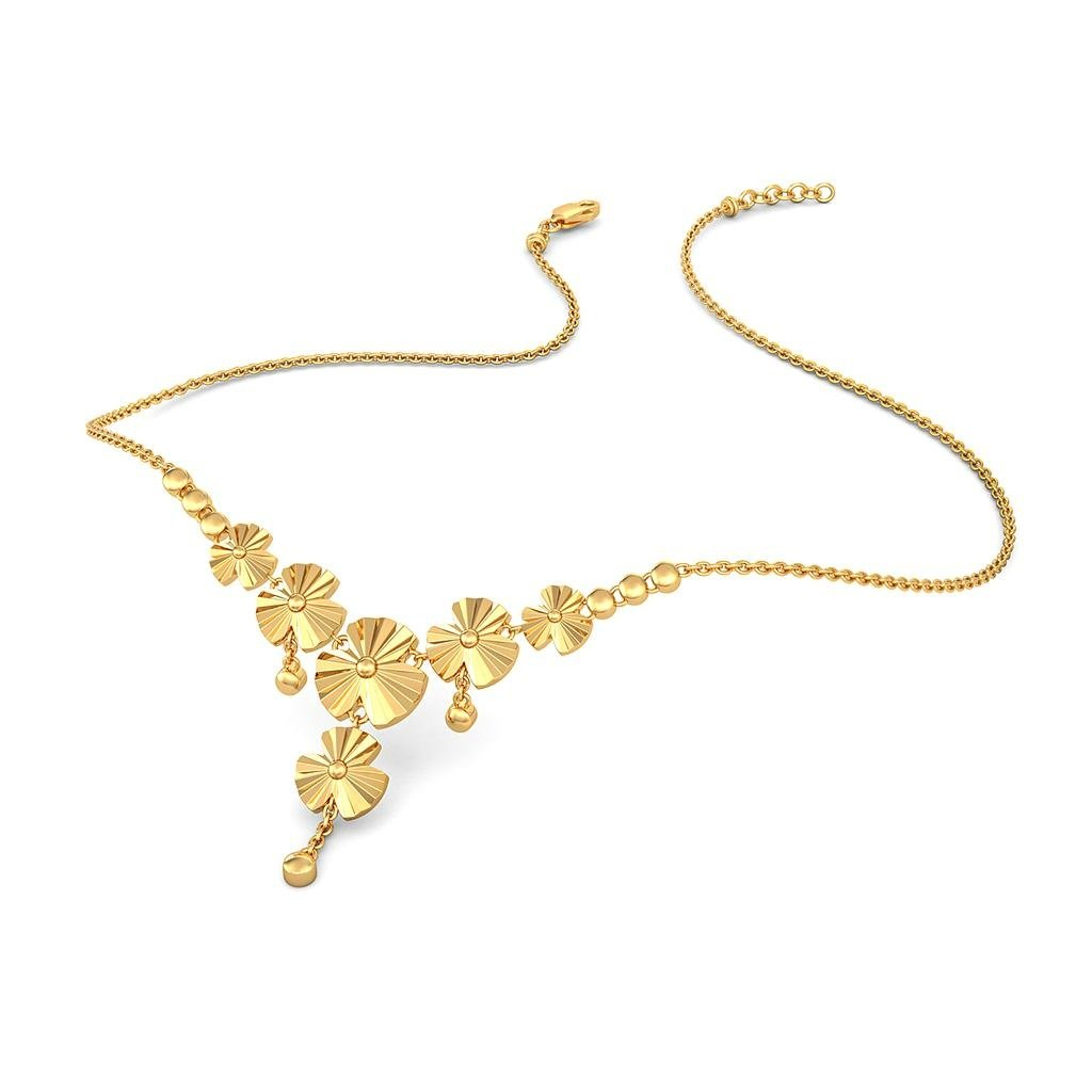 22K Yellow Gold (HallMarked) Y Shaped Necklace