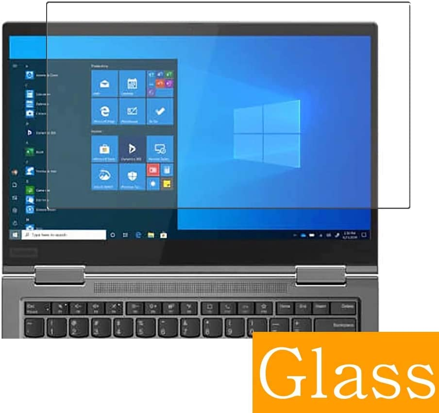 """Synvy Tempered Glass Screen Protector Compatible with Lenovo ThinkPad X1 Yoga Gen 5 2020 14"""" Visible Area 9H Protective Screen Film Protectors (Not Full Coverage)"""