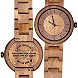 Engraved Wood Watches for Daughter Personalized...