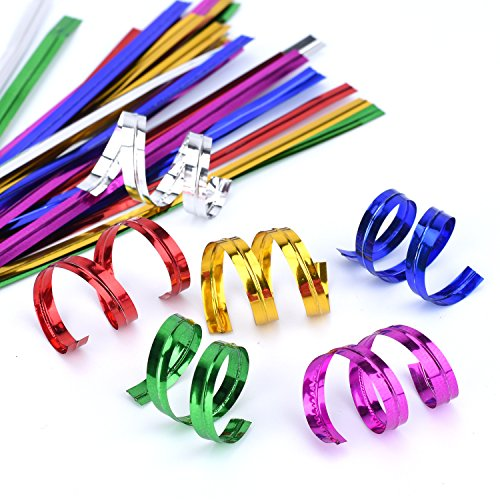 Easytle 4'' Metallic Twist Ties - 6 Colors red,gold, green, silver, blue and pink 600 Pcs Christmas Decoration