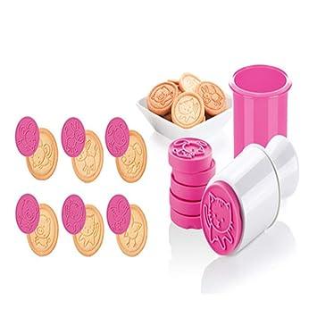 Paquete de 6 sellos de silicona 3D para cortar galletas, diseño de Navidad Rose Red: Amazon.es: Hogar
