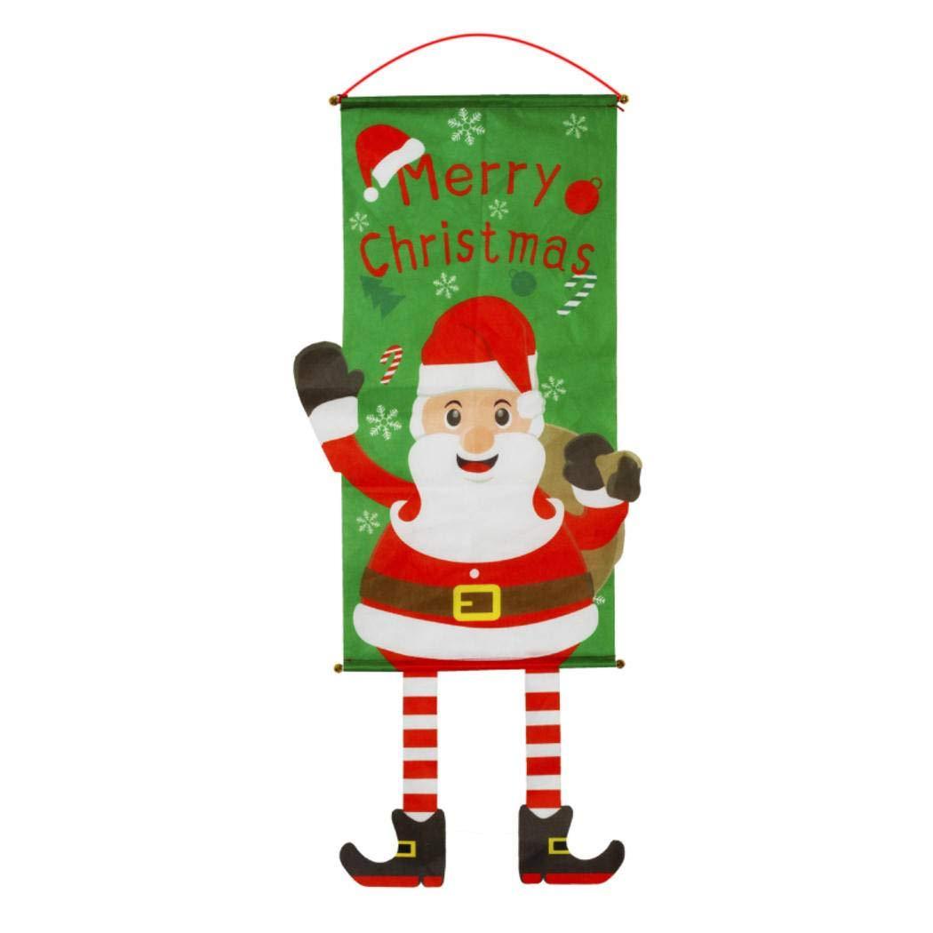 Albero Arredamento per la casa Feste Negozi Centri Commerciali Accessori da Parete in Magazzino Appendere Quadri S-Claus Panno di Natale da Appendere alberghi