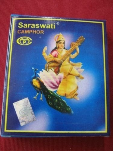 Buy 2 get 1 free Pure SARASWATI Camphor Kapur Tablets100 tabletsin 1 pack by Artcollectibles India