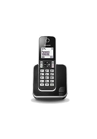 Panasonic KX-TGD310 - Teléfono fijo inalámbrico(LCD, identificador de llamadas, agenda de 120 números, bloqueo de llamada, modo ECO, reducción de ...