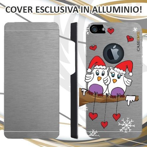 CUSTODIA COVER CASE CASEONE GUFETTI LOVE PER IPHONE 5 ALLUMINIO TRASPARENTE