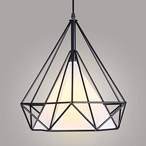 MODERN VINTAGE INDUSTRIAL RETRO LOFT CAGE FABRIC CEILING LAMP SHADE PENDANT  LIGHT