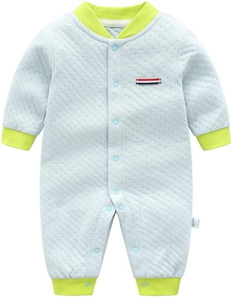Recién Nacido Pijama Bebés Algodón Mameluco Niñas Niños Pelele Manga Lunga Body Trajes 9-12 Meses: Amazon.es: Bebé