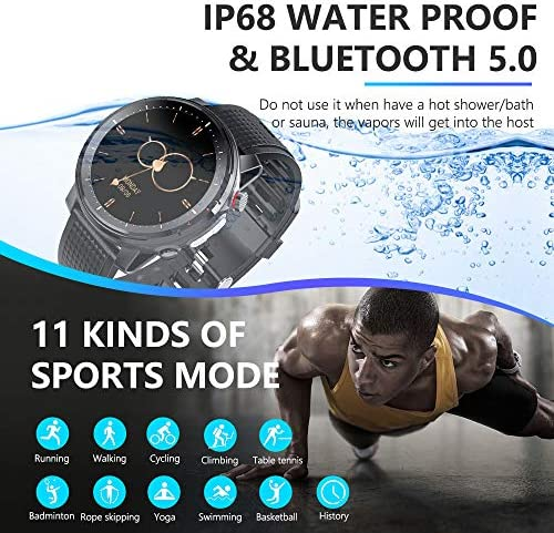 Smart Watch for Android iOS Phone,Health and Fitness Smartwatch with Heart Rate Blood Pressure SpO2 Monitor Sleep Tracker,Buletooth5.0,high-Definition Full-Screen Touch,IP68 Waterproof Smart Watch