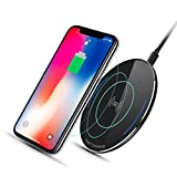10W Fast Wireless Charger, Qi Wireless Charging Pad for iPhone 8/8 Plus, iPhone X, Samsung Galaxy S9/S9+, Quick Charge for Galaxy S8/S8+ S7/S7, Ultra-slim, Lightweight