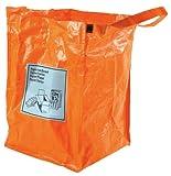 Esschert Design Recycling Bag for Paper, Orange