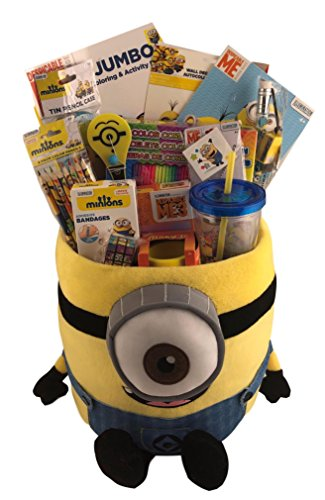 Extra Large JUMBO Despicable Me Minion Gift Basket Box for Boys or Girls Birthday, Get Well, Just (The Little Girl From Despicable Me)