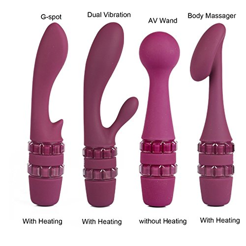 New Heating Vibrator Av Wand Vibrator Massager Waterproof Soft Vibrator G Spot Clitoris Stimulator Adult Sex Toy for Woman,with Package by Lovely-Shop Vibrator (Image #2)