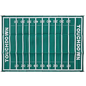 Camco 42862 8′ x 16′ Football Outdoor Patio Mat – Mold and Mildew Resistant, Easy to Clean, Perfect for Picnics…