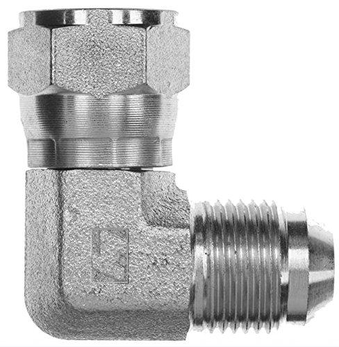 Brennan - 90° Elbow - 1/2 in Female JIC 37° Flare x 1/2 in Male JIC 37° Flare, Stainless Steel