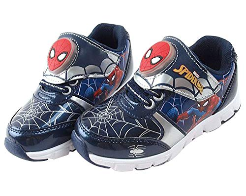 Joah Store Kid's Hero Spider-Man Light Up Shoes Navy Sneakers Gifts for Boys (Toddler/Little Kid) (8 M US Toddler, Spider-Man_B) -