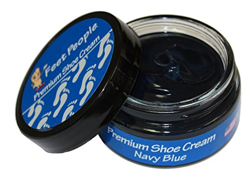 (FeetPeople Premium Shoe Cream 1.5 oz, Navy)