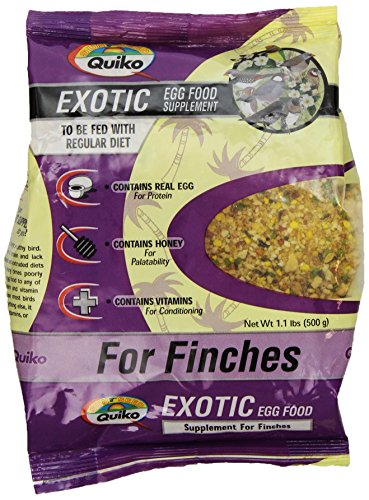 Egg Birds Food - Quiko Exotic Egg Food Supplement For Finches, 1.1 Lb. Pouch