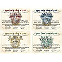 Personalized Harry Potter Diploma - Choose House - Hogwarts School of Witchcraft and Wizardry Degree of Master of Wizardry