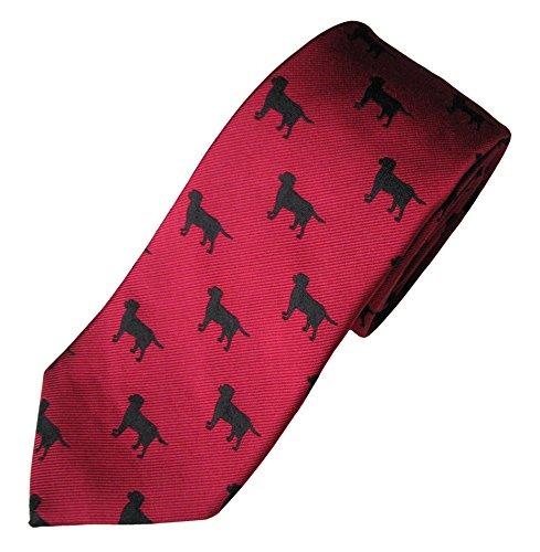 Labrador (Black) Tie (Men's Dog Breed Neck Tie) (Tie Labrador Black)
