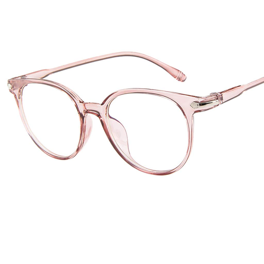 Londony Vintage Eyewear 2019 in Lightweight Block Glasses Round Optical Glasses Non-Prescription Eyeglasses