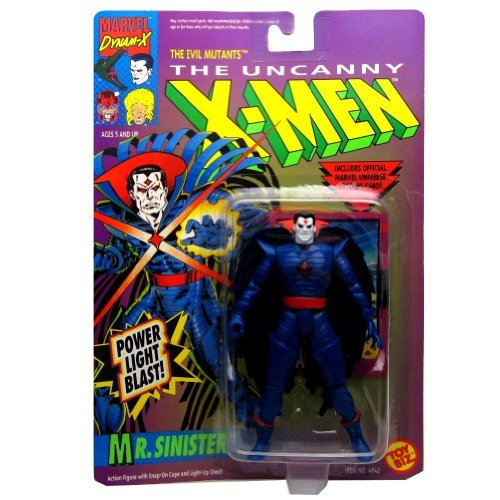 - Marvel Comics Year 1992 The Uncanny X-MEN Series 5 Inch Tall Action Figure - The Evil Mutants MR. SINISTER with Snap On Cape and