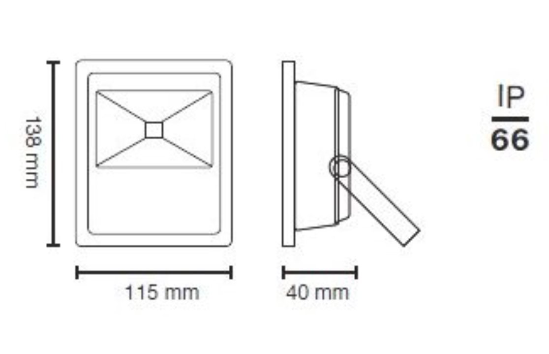 2x PROYECTOR 10w LED Extraplano para Exterior LA blanco frio Gris 6500k 13,8 x 11,5 x 4 cm