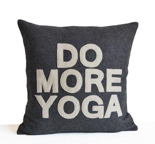 Hacer más Yoga almohada personalizada 18 x 45,72 cm cuadrado ...