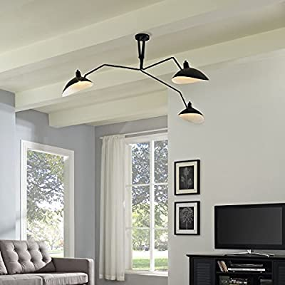 Modway EEI-1591 View Ceiling Fixture, Black