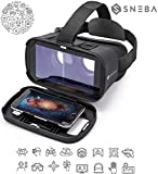 VR Glasses, Virtual Reality Headset, 3D IMAX Movie/Game Viewer Compatible iPhone XR Xs X 8 7 6 S Plus Samsung Galaxy S9 S8 S7 S6 Edge+ etc 4.0-6.33' Cellphone ...