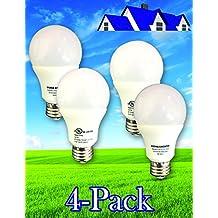 Luma LED - 806 Lumens 60 Watt Equivalent Natural White (4000k) Light Bulb, 9 Watts (Pack of 4)